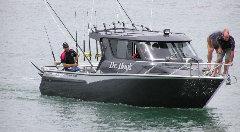 850 custom cruiser white pointer boats custom alloy for Custom fishing boats