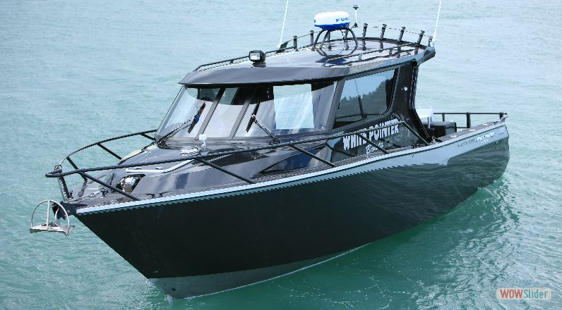 White pointer boats generated by for Custom aluminum fishing boats
