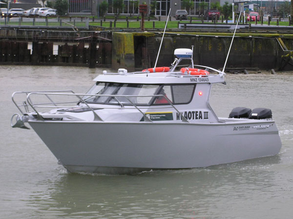 White Pointer Boats 840 CUSTOM COMMERCIAL - MV Aotea III : custom alloy boat builders, aluminium ...